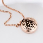 Essential Oil Diffuser Necklace Jewelry - Rose Gold
