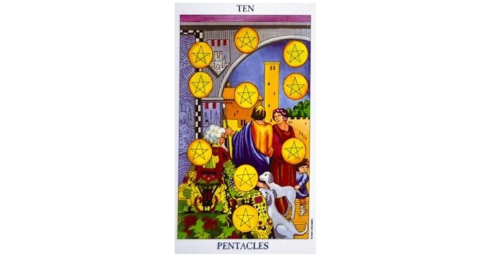 10 of Pentacles Tarot Card – Meaning, Love, Reversed