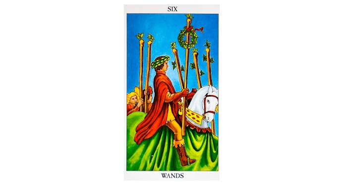 6 of wands tarot card  meaning love reversed
